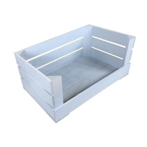 Nailsworth Blue Drop Front Painted Crate 600x370x250