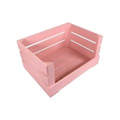 Pink 500mm Drop Front Painted Crate