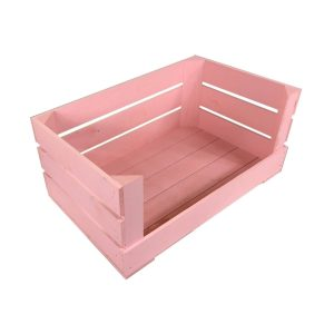 Pink 600mm Drop Front Painted Crate