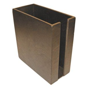 Rustic Brown Cup & Lid Holder 283x132x300