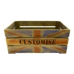 Union Jack Bespoke Stencil Crate 600x370x250
