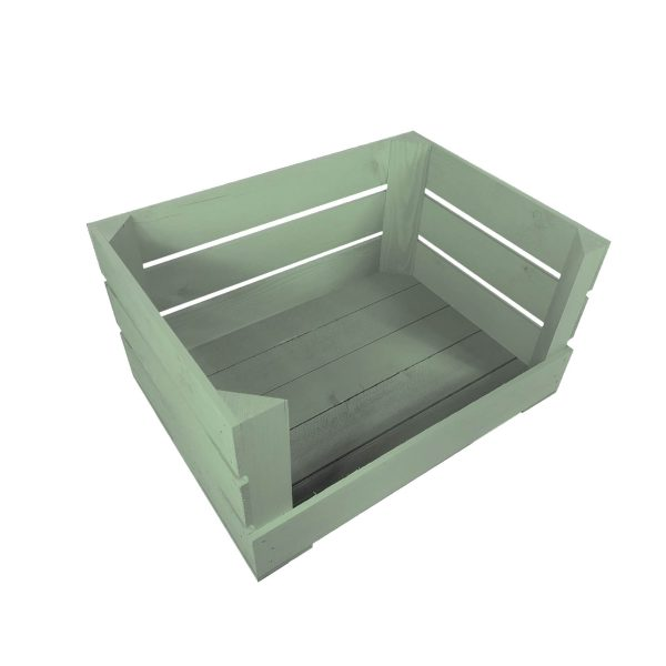 Tetbury Green 500mm Drop Front Painted Crate