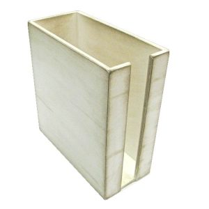 White Distressed Painted Cup & Lid Holder 283x132x300