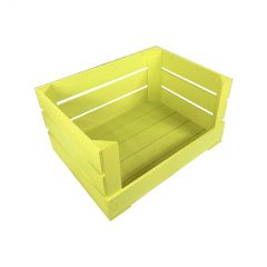 Yellow 500mm Drop Front Painted Crate