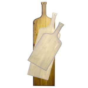 distressed large wine bottle paddle in SET