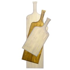 distressed medium wine bottle paddle in SET