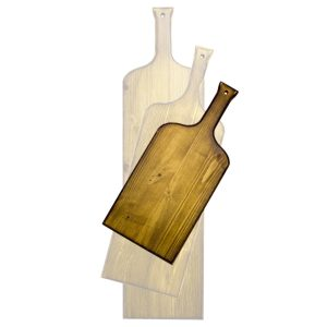distressed small wine bottle paddle in SET