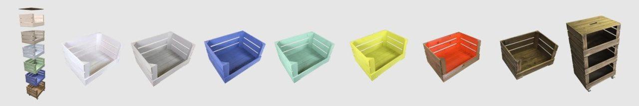 drop front crates