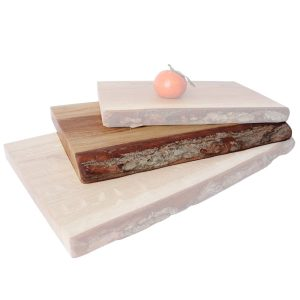 Rustic Bark Edged Oak Chopping Board 300x200x34
