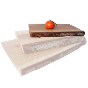 medium 250mm Rustic Bark Edged Oak Chopping Board