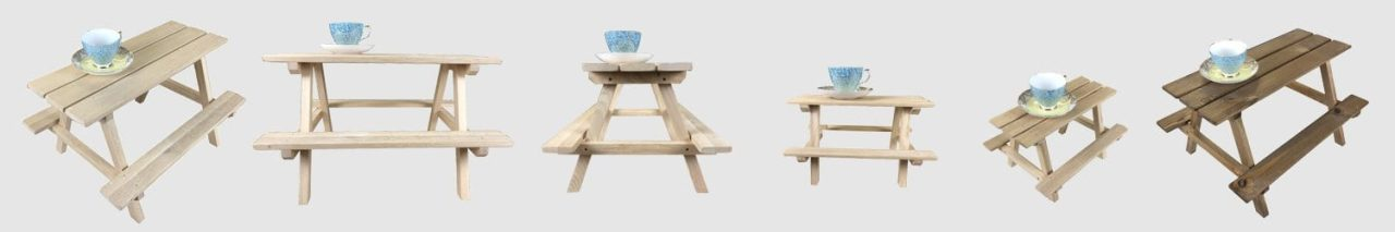 mini picnic bench display risers