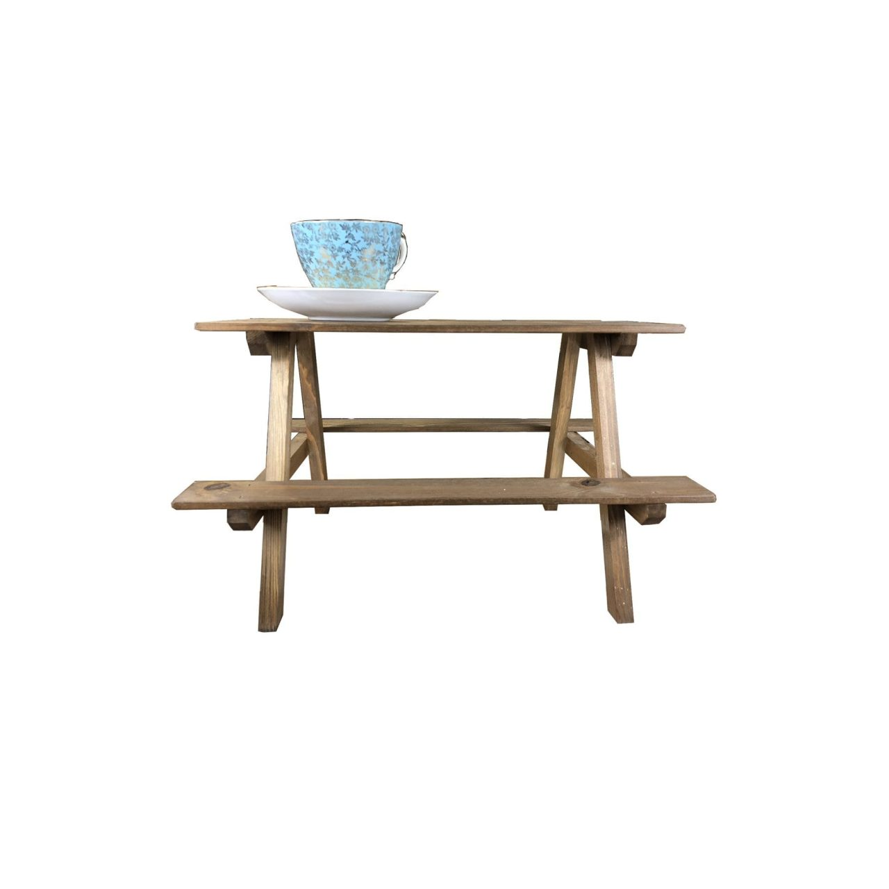 Rustic Mini Picnic Bench Display Quirky Tea Amp Cake Stand