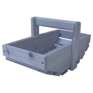 Kingscote Blue Small Painted Rustic Garden Trug