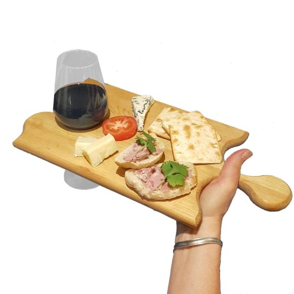 wine and dine Jigsaw Platter 400x195x18