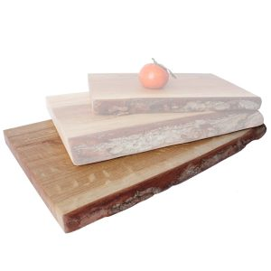 Rustic Bark Edged Oak Chopping Board 350x220x34