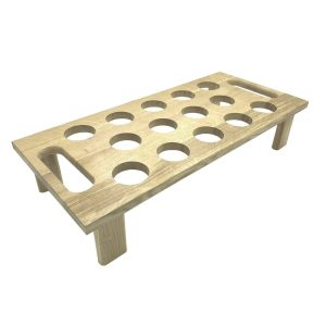 14 hole Oak Cone Tray Holder 600x275x120