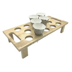 14 hole Oak Cone Tray Holder 600x275x120 with cones