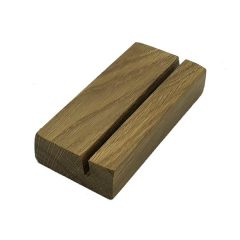 Oiled Oak Menu Holder with slanted slot 175x80x32