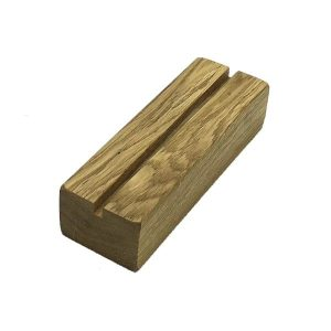 Oiled Oak Menu Holder with vertical slot 175x60x40