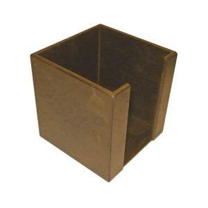 Rustic Brown stained birch ply napkin holder 200x200x200