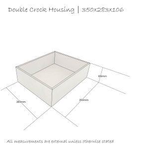 double crock housing 350x283x106 schematic