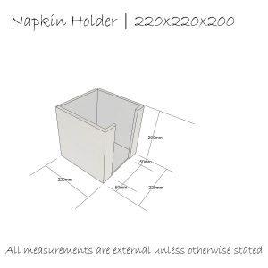 napkin holder 220x220x200 schematic