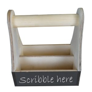 natural blackboard condiment caddy 215x165x230 side view