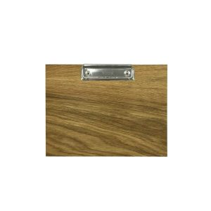 oak veneered clipboard with clip 175x230x6