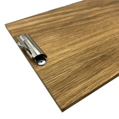 oak veneered clipboard with clip 230x175x6 detail