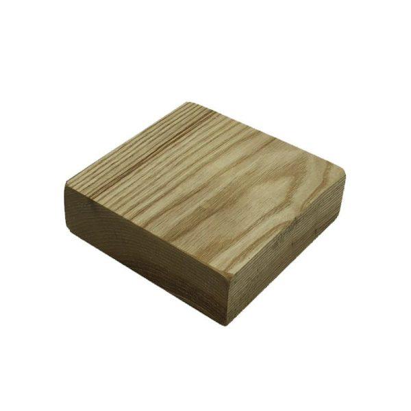 oiled rustic block riser 145x145x45
