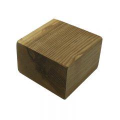 oiled rustic block riser 145x145x95