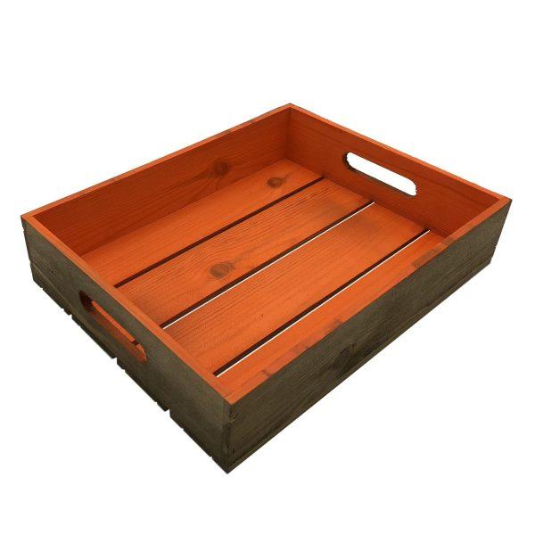 orange Colour Burst Slatted Tray 375x290x80