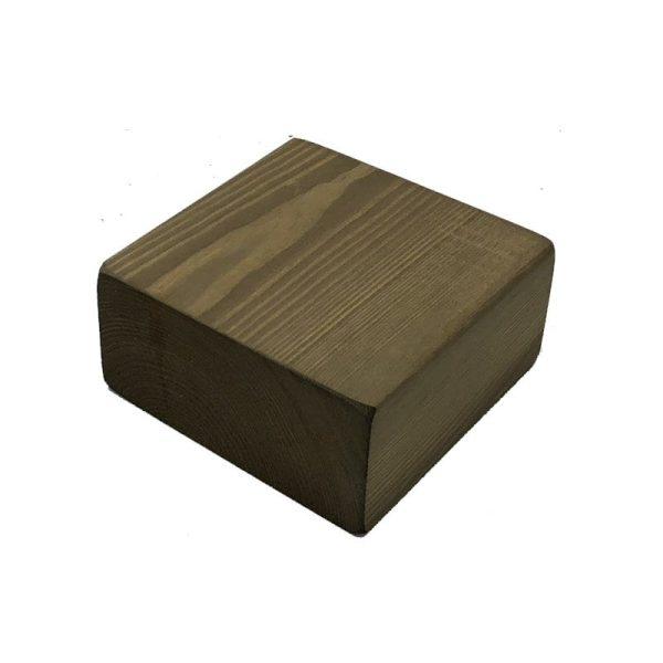 rustic brown rustic block riser 145x145x70