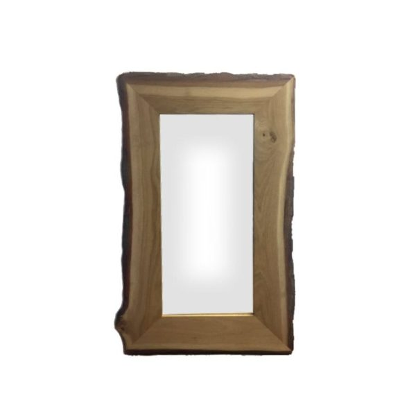 Rustic Bark Edged Oak Mirror 1200x700x22