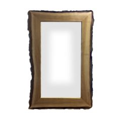 Rustic Bark Edged Oak Mirror 1500x900x22