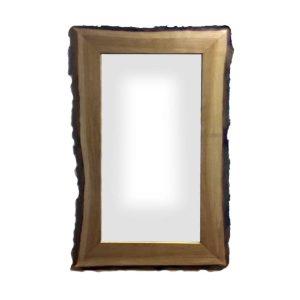 Rustic Bark Edged Oak Mirror 1500x900x22
