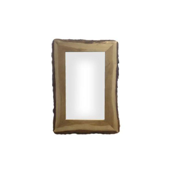 Rustic Bark Edged Oak Mirror 900x600x22