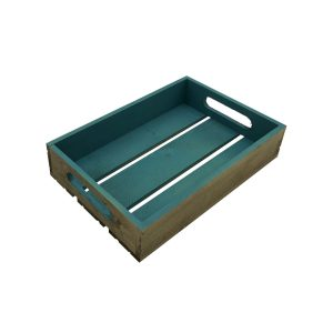 turquoise colour burst tray 300x200x60