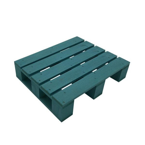 turquoise painted mini pallet 325x265x70