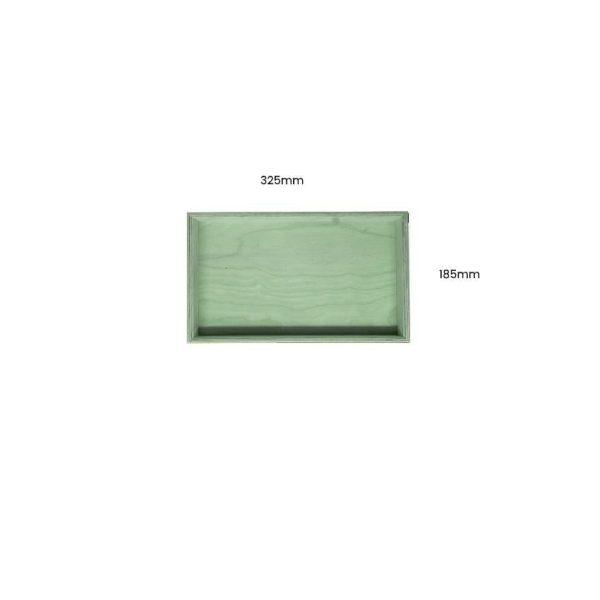 Tetbury Green Painted Birch Ply Box Tray 325185