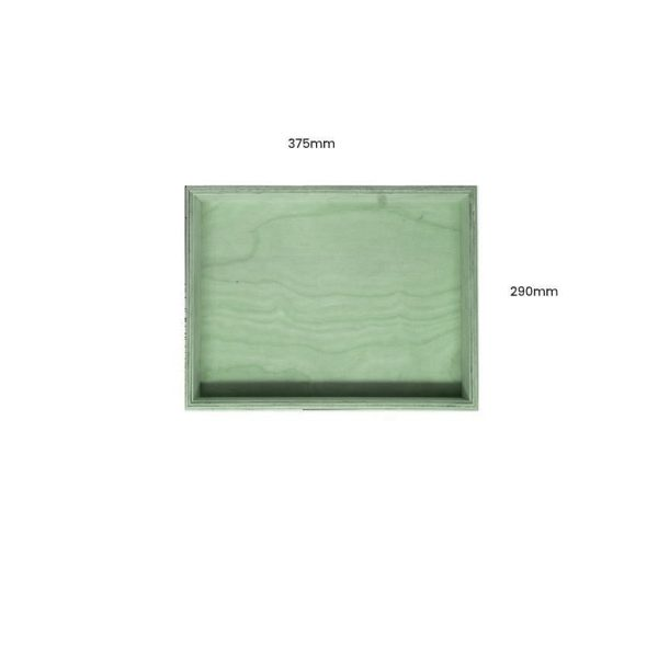 Tetbury Green Painted Birch Ply Box Tray 375290