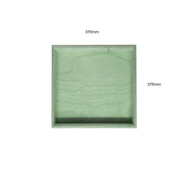 Tetbury Green Painted Birch Ply Box Tray 375375