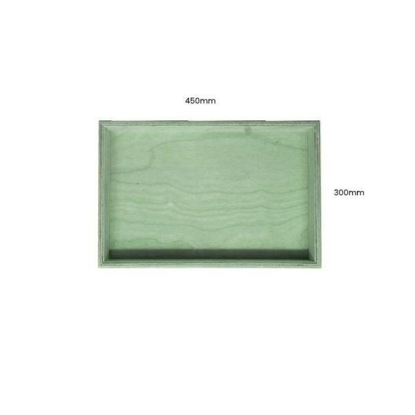 Tetbury Green Painted Birch Ply Box 450x300