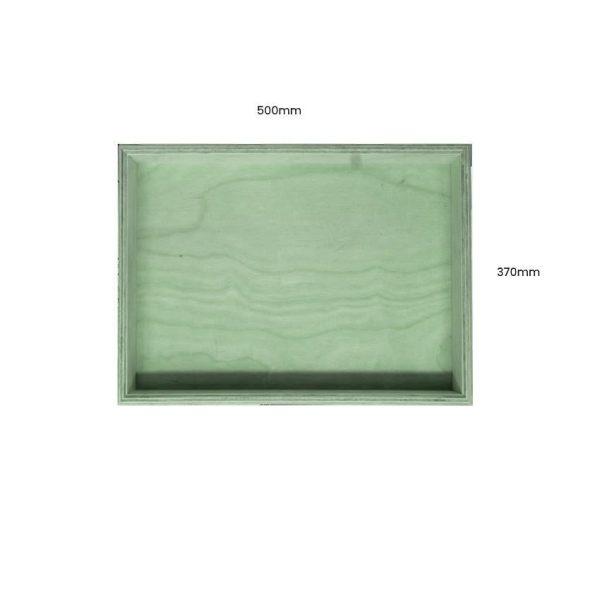 Tetbury Green Painted Birch Ply Box Tray 500370