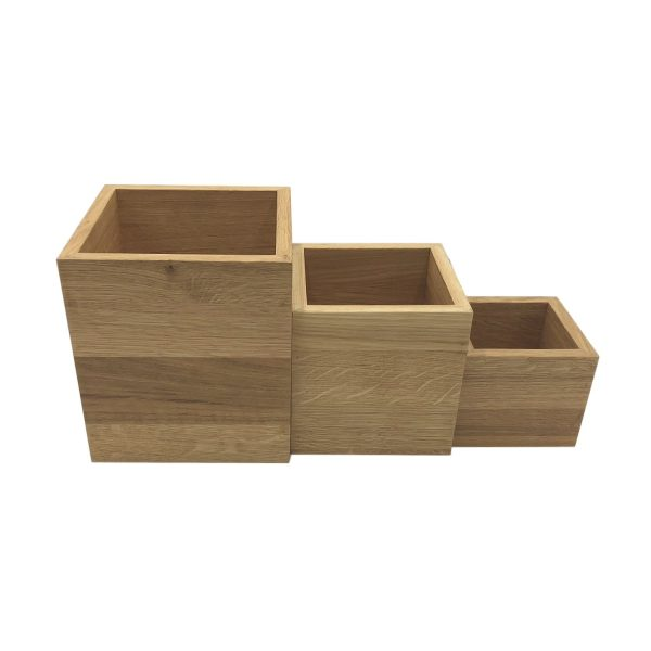 aligned oak box riser set