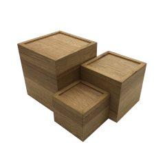 clustered oak box riser set