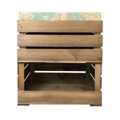 drop front and cushion crate with cushion 525x325x640 front view