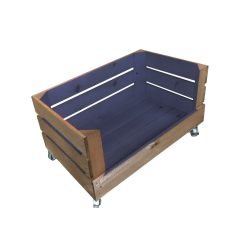 kingscote blue mobile colour curst drop front crate 525x325x320