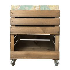 mobile drop front and cushion crate with cushion 525x325x640 front view