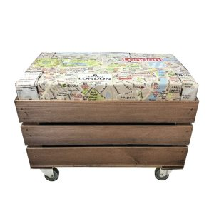 mobile london map cushion seater crate with cushion 525x325x325 side view